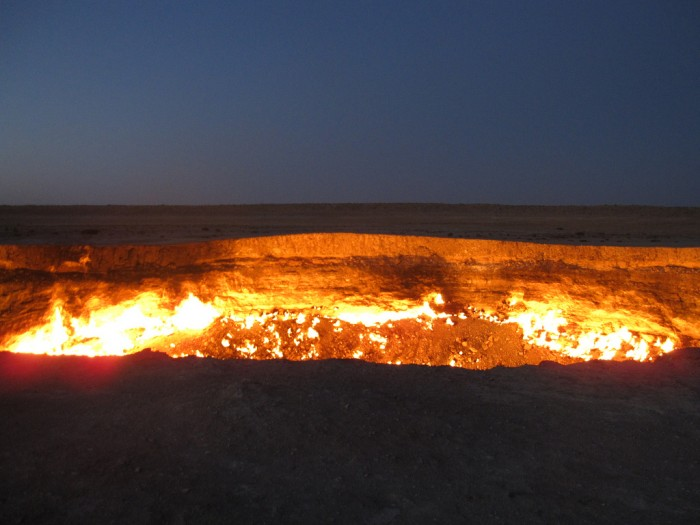 tour-the-man-made-crater-thats-been-burning-for-more-than-40-years The Door to Hell Is Open Now, Have You Ever Seen It?