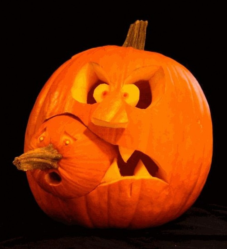 two-parts-pumpkin-carving-layouts-920x1006 Top 60 Creative Pumpkin Carving Ideas for a Happy Halloween