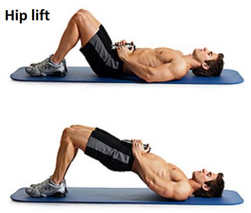 weighted-hip-raise Abdominals Fat