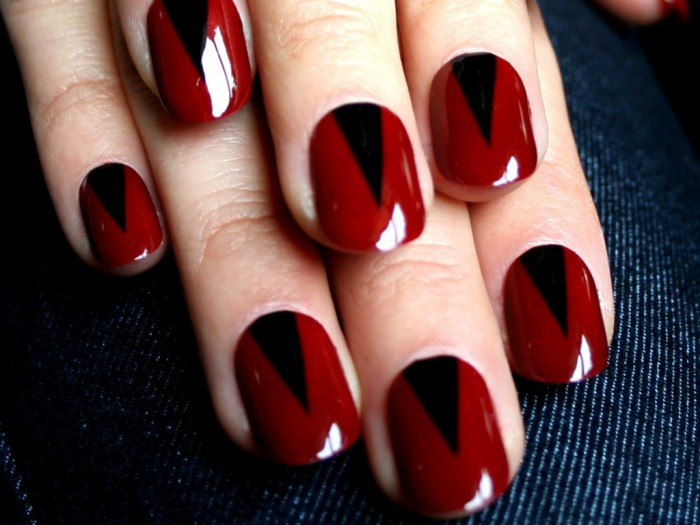 06 nail art new years red spikes What Are the Latest Beauty Trends for 2014?