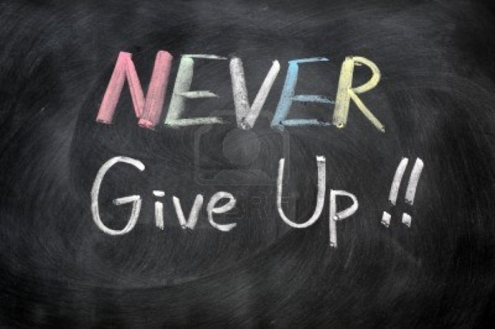 11939322-never-give-up-written-in-chalk-on-a-blackboard Do You Have Any Idea about How to Secure More Scholarships?