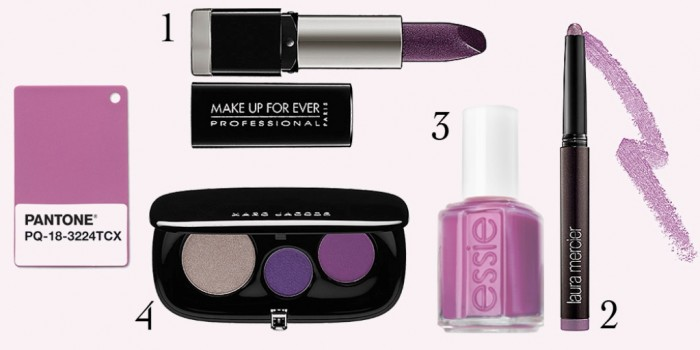 2 pantone radiant orchid makeup with numbers What Are the Latest Beauty Trends for 2014?