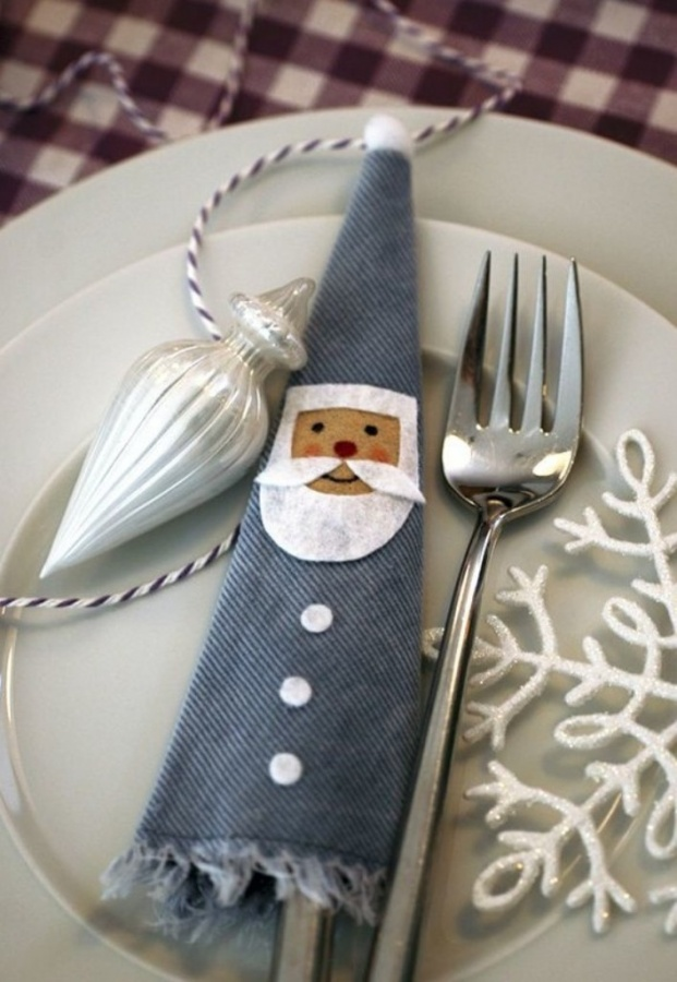 2013-fun-christmas-cutlery-decorcreative-christmas-cutlery-santa-holder-decor-idea-table-decor-for-f96920 65+ Dazzling Christmas Decorating Ideas for Your Home in 2020