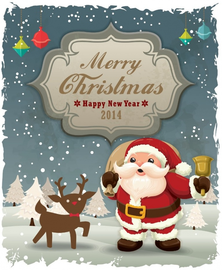 2014-Cartoon-Santa-Card-1 What Did Santa Claus Bring For You On Christmas Eve?