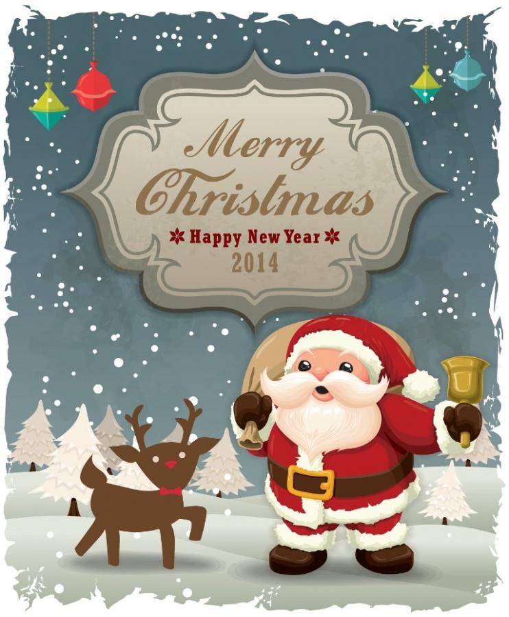 2014-Cartoon-Santa-Card-1 What Did Santa Claus Bring For You On Christmas Eve?