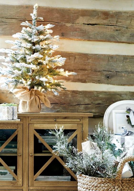 600White-Christmas-decoration-ideas-small-tree-and-basket 79 Amazing Christmas Tree Decorations