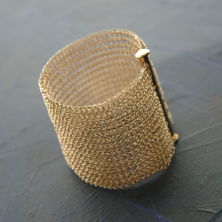 BRIDAL-wide-cuff-crocheted-with-gold-filled1 Stunning Crochet Patterns To Decorate Your Home & Make Accessories