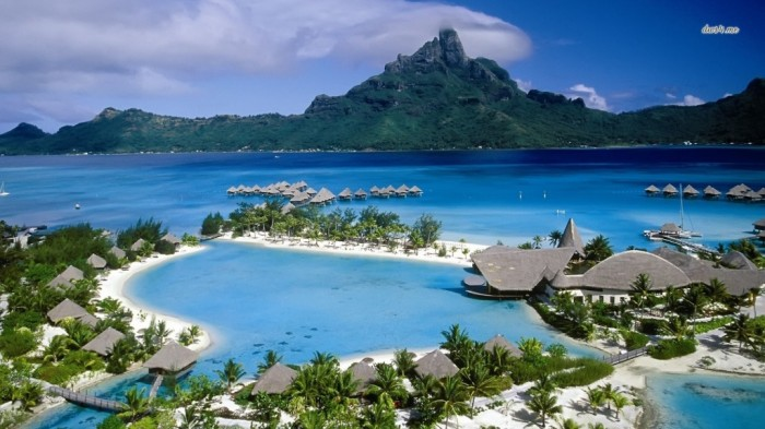 Bora-Bora-Beach-Wallpaper-4418-Hd Top 10 Romantic Vacation Spots for Couples to Enjoy Unforgettable Time