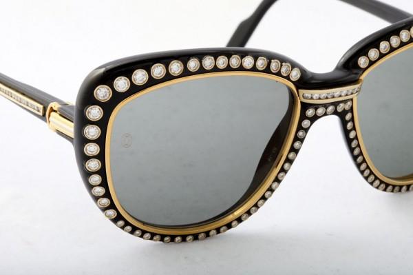 Cartier-Vintage-Diamond-Sunglasses-2 39 Most Stylish Gold and Diamond Sunglasses in 2021