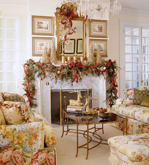 Christmas-Living-Room-3 79 Amazing Christmas Tree Decorations