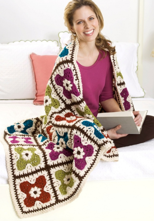 Crochet-Flower-Afghan 10 Fascinating Ideas to Create Crochet Patterns on Your Own
