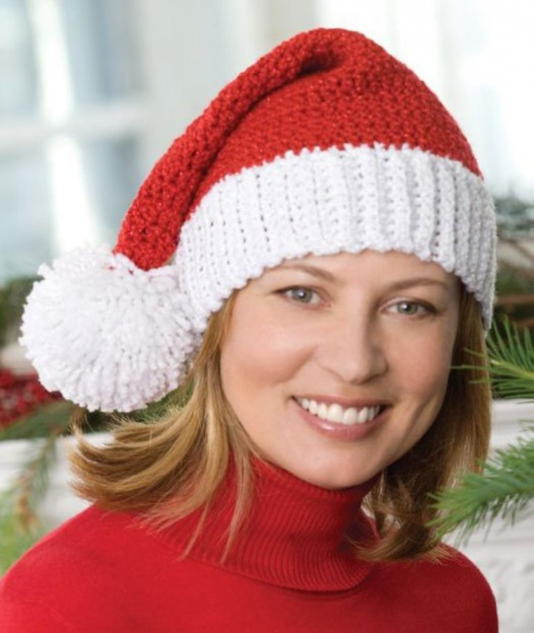 CrochetSantaHat 10 Fascinating Ideas to Create Crochet Patterns on Your Own