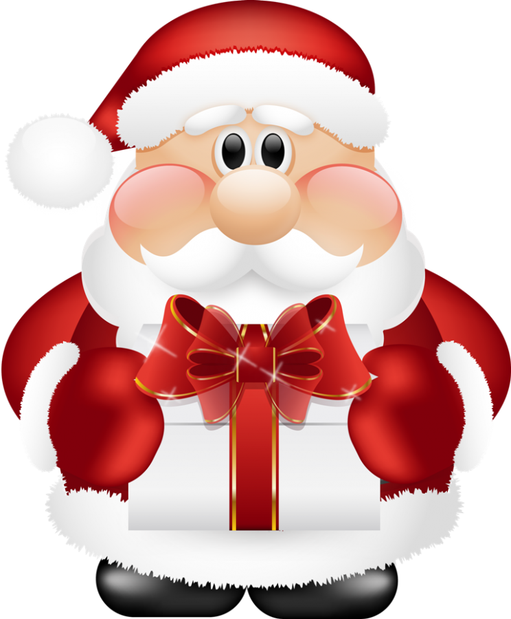 Cute_Santa_Claus_with_Gift_PNG_Clipart What Did Santa Claus Bring For You On Christmas Eve?