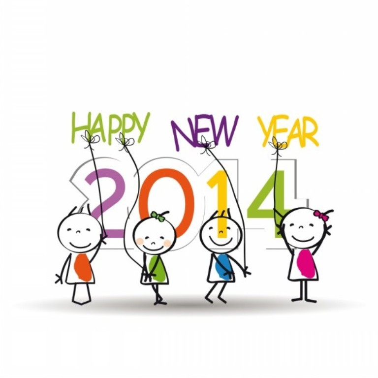 Designs-for-Kids.-Happy-New-Year-2014-n-4 45+ Latest & Most Gorgeous Greeting Cards for a Happy New Year