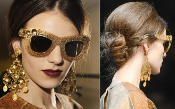 DolceGabbana_Sunglasses_Fall_Winter_2014_Collection_4-800x501 39 Most Stylish Gold and Diamond Sunglasses in 2018