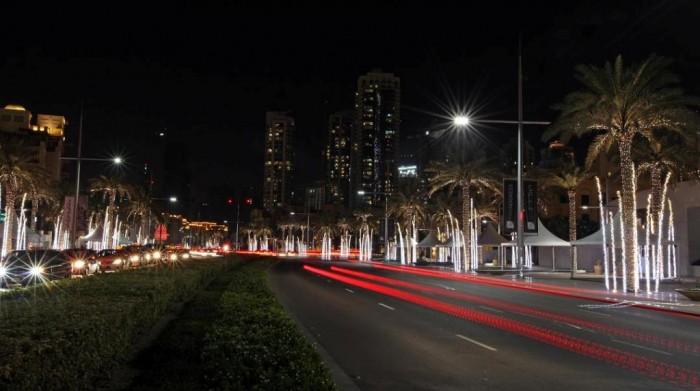 "Emaar-Boulevard-Downtown-Dubai-festive-lighting-2 ""Festival of Lights"" Enchants the Hearts in the Galleria During the Holiday Season"