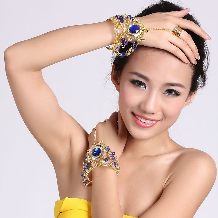 Free-Shipping-Belly-dance-bracelet-big-diamond-ring-jewelry-accessories-set-decoration-hand-chain-ring-braceletarm 65 Hottest Hand Back Jewelry Pieces for 2020