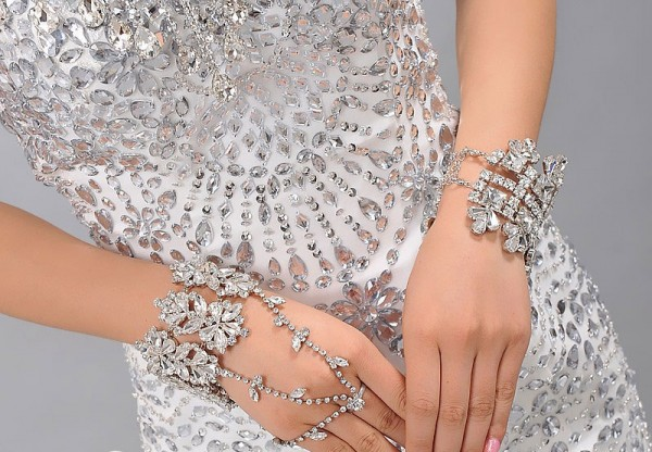 Free-shipping-fashion-crystal-bride-hand-chain-sparking-rhinestone-bracelet-with-ring-wedding-party-jewelry 65 Hottest Hand Back Jewelry Pieces for 2020