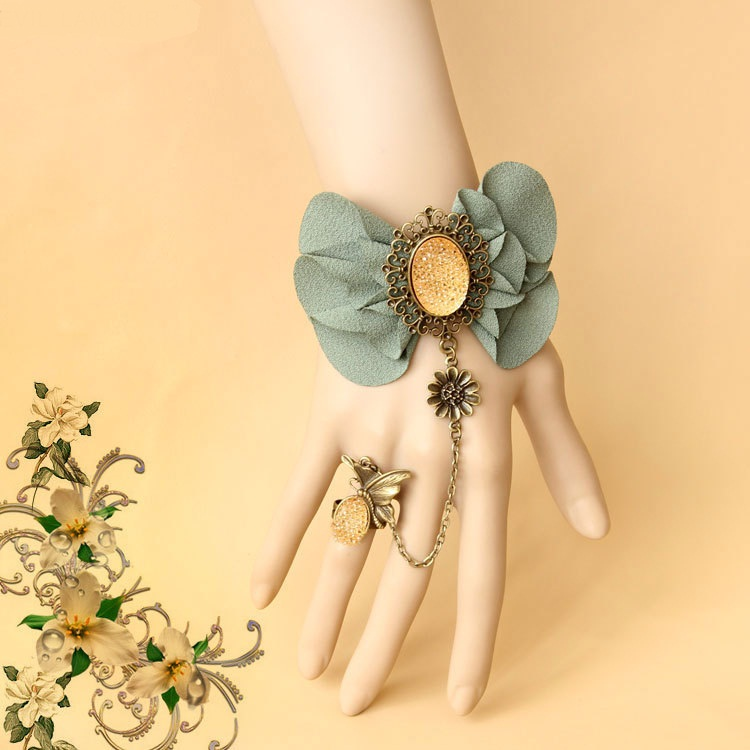 Free-shipping-women-bride-jewelry-accessories-hand-bronze-chain-ring-bracelet-fashion-wedding-hand-made-lace 65 Hottest Hand Back Jewelry Pieces for 2020
