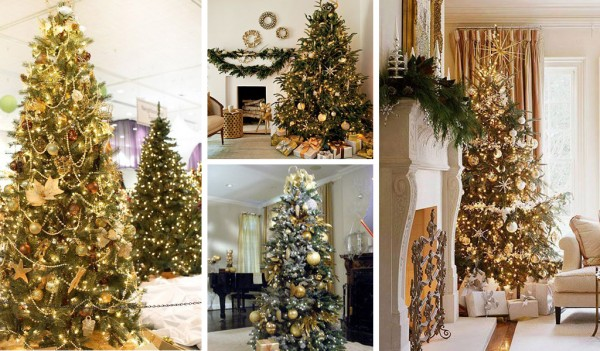 Gold-Trees 79 Amazing Christmas Tree Decorations