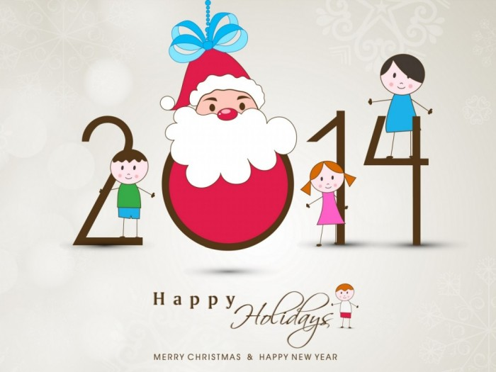Happy-New-Year-2014-with-happy-Santa-Claus-and-little-kids What Did Santa Claus Bring For You On Christmas Eve?