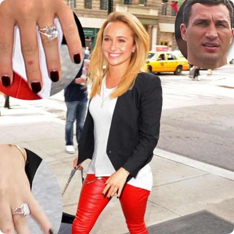 Hayden-Panettiere-diamond-engagement-ring-by-Wladimir-Klitschko- 35+ Fascinating & Stunning Celebrities Engagement Rings for 2019