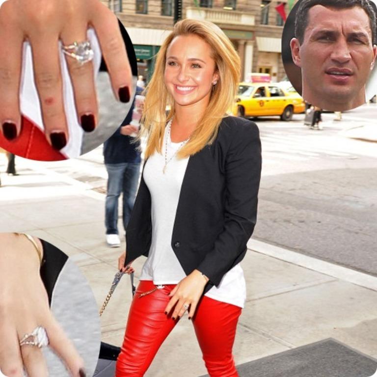 Hayden-Panettiere-diamond-engagement-ring-by-Wladimir-Klitschko- 35+ Fascinating & Stunning Celebrities Engagement Rings for 2020