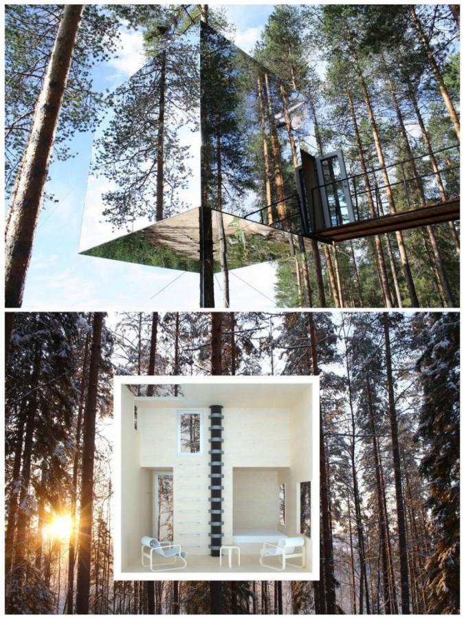 Mirrorcube-TreeHotel-in-Sweden Top 30 World's Weirdest Hotels ... Never Seen Before!