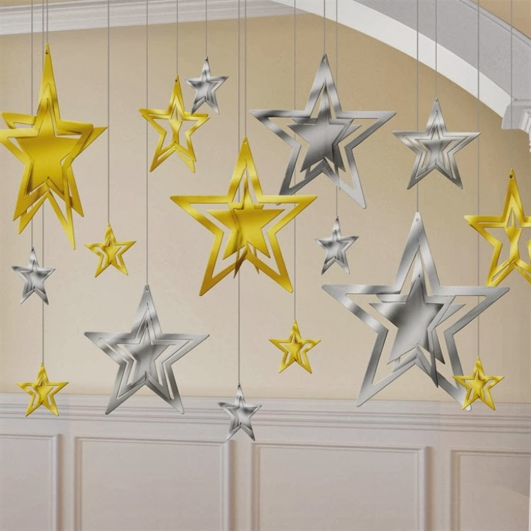 New year 2014 party star decoration ideas - New years decoration ideas ...