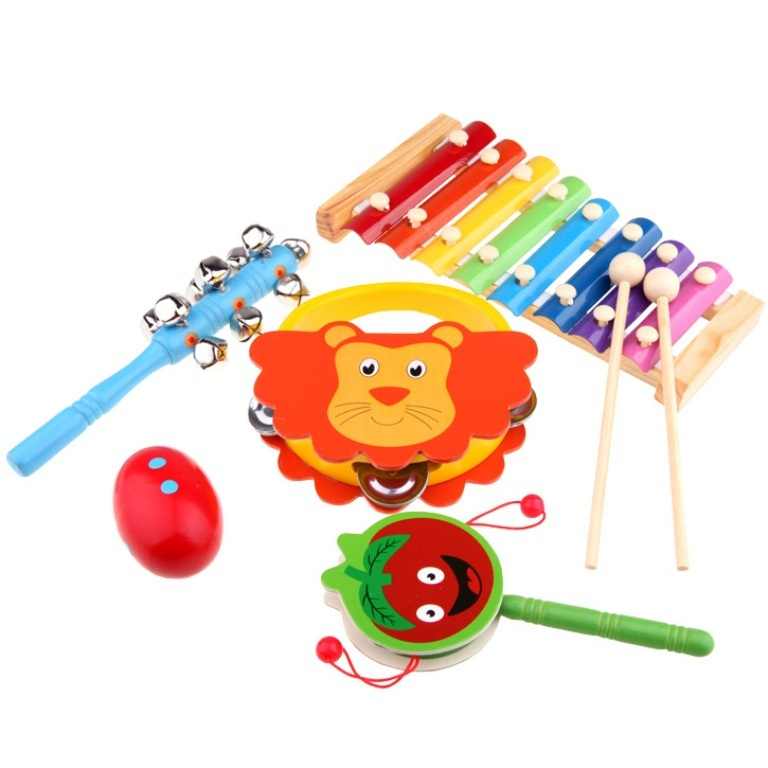 Round-toy-3-15-child-musical-font-b-instrument-b-font-octave-piano-knock-sand-eggs Do You Know How to Train Your Child to Use the Five Senses?
