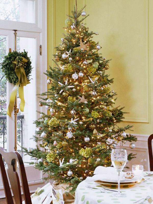 Sea-theme-sparkling-starfish-Christmas-tree 79 Amazing Christmas Tree Decorations