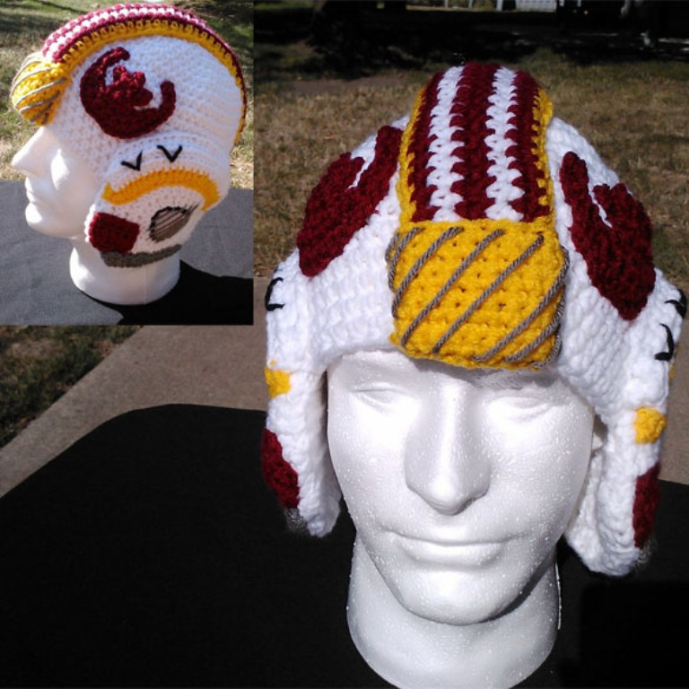 Star-Wars-X-Wing-Crochet-Helmet-Hat 10 Fascinating Ideas to Create Crochet Patterns on Your Own