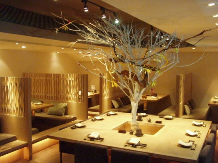 Stunning-Decoration-of-Japanese-Restaurant-Modern-Fascinating-Japanese-Restaurant-Modern-Design-Ideas-Indoor-Plant Do You Dream of Starting and Running Your Own Restaurant Business?