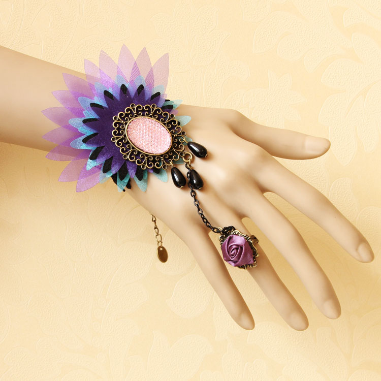 Summer-accessories-vintage-lace-accessories-ring-band-bracelet-one-piece-chain-female-wrist-length-jewelry 65 Hottest Hand Back Jewelry Pieces for 2020
