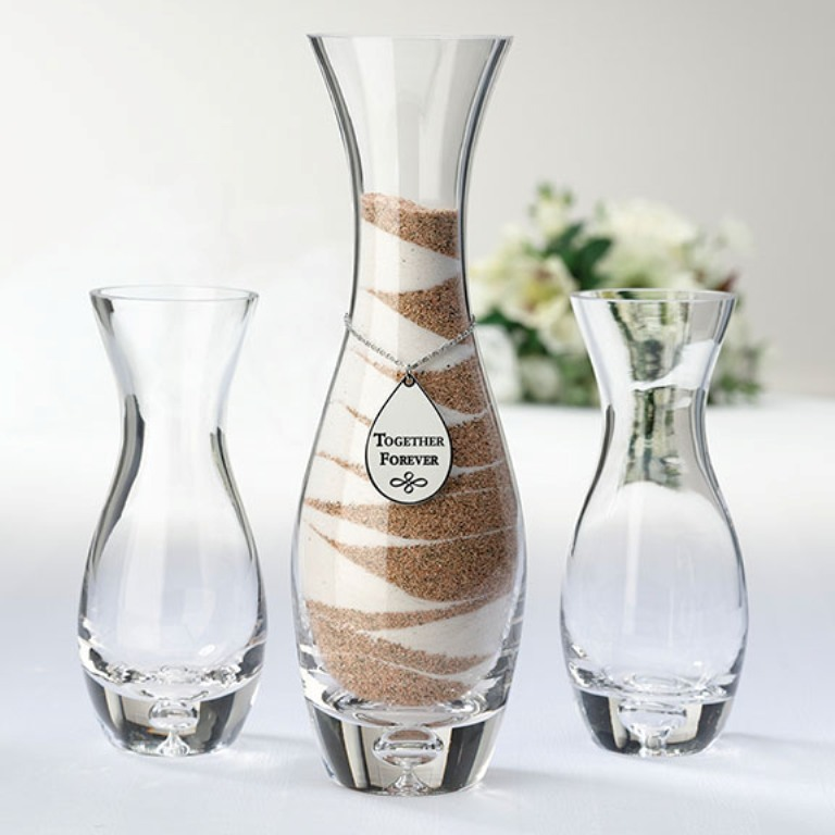 Together-Forever-Unity-Vase-Sand-Set-Ceremony Save Money & Learn How to Make Your Own Wedding Favors