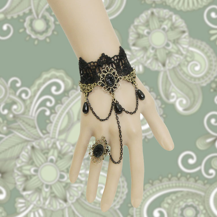 Vintage-star-lace-bracelet-hand-ring-promise-ring-female-bracelet-one-piece-chain 65 Hottest Hand Back Jewelry Pieces for 2020