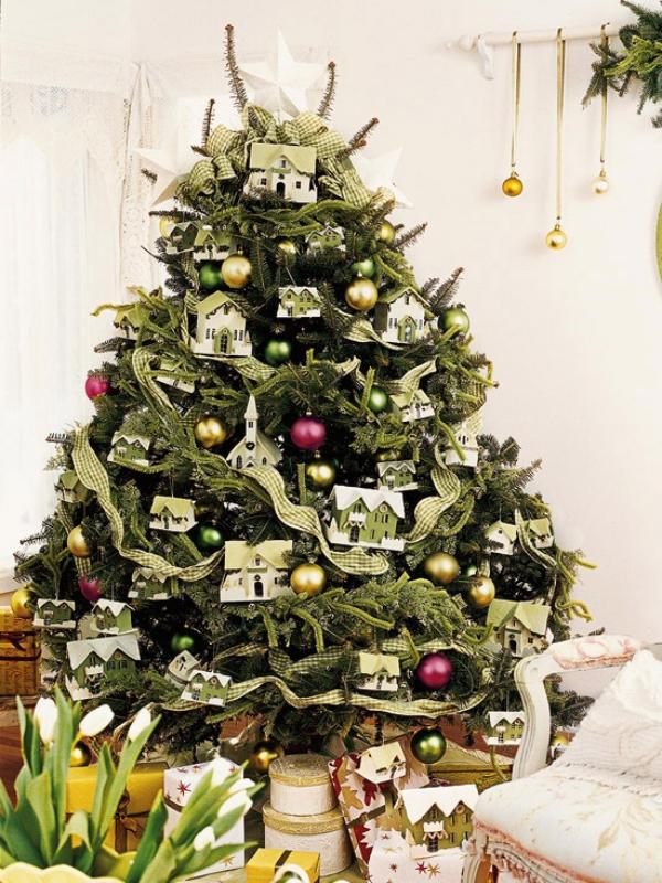 Wonderful-miniature-village-Christmas-Tree 79 Amazing Christmas Tree Decorations