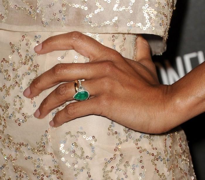 Zoe-Saldana 35+ Fascinating & Stunning Celebrities Engagement Rings for 2020