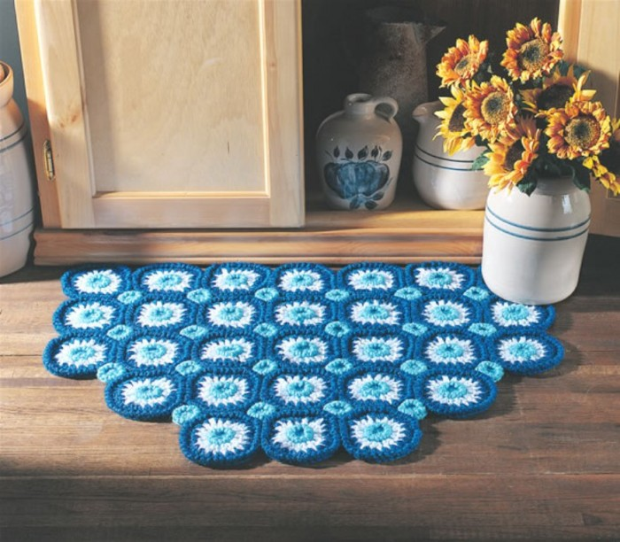 bachelors_button_rug_lg Stunning Crochet Patterns To Decorate Your Home & Make Accessories