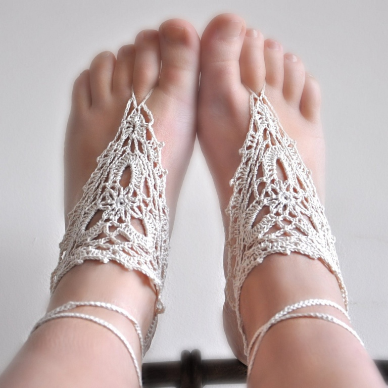 barefoot_crochet_sandals Stunning Crochet Patterns To Decorate Your Home & Make Accessories