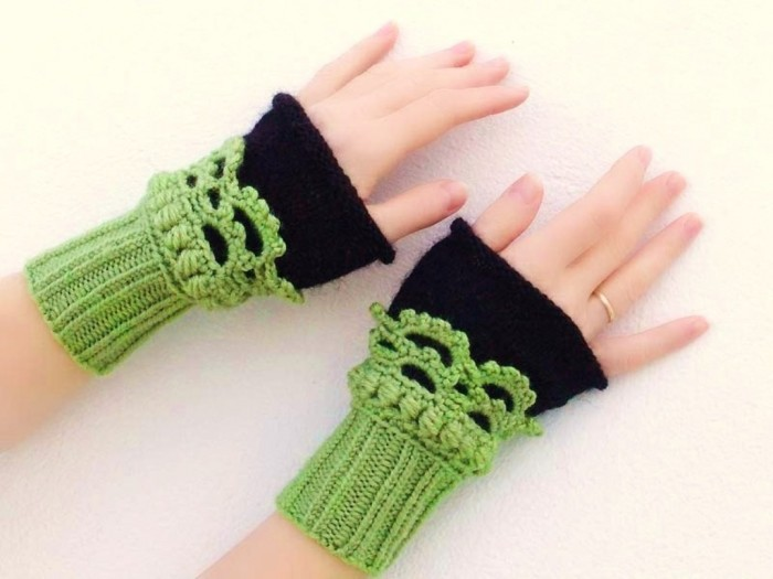 best-green-fingerless-crochet-mittens 10 Fascinating Ideas to Create Crochet Patterns on Your Own