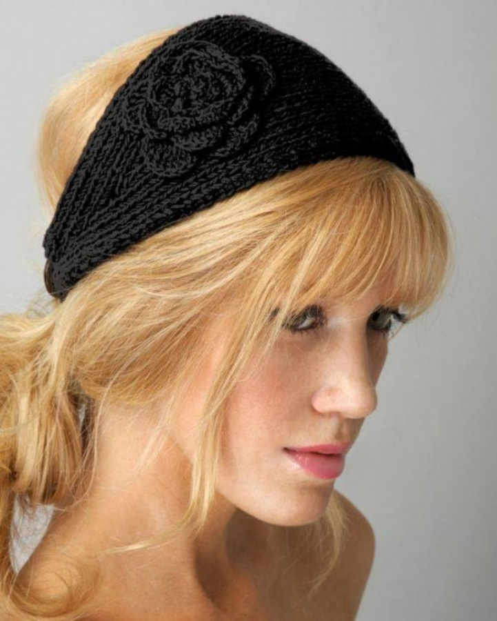 black-crochet-headband-pattern Stunning Crochet Patterns To Decorate Your Home & Make Accessories