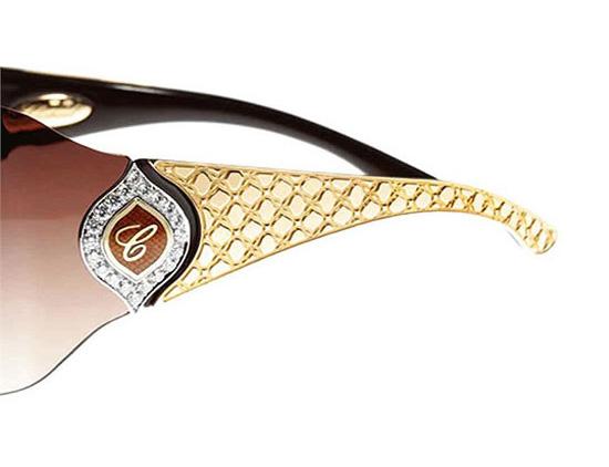 chopard-jewel-sunglasses-1 39 Most Stylish Gold and Diamond Sunglasses in 2021