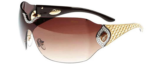 chopard-jewel-sunglasses-3 39 Most Stylish Gold and Diamond Sunglasses in 2019