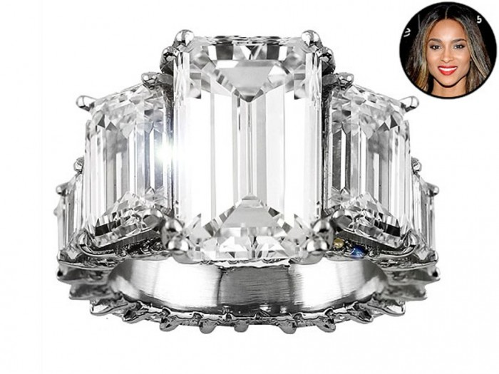 ciara-600x450 35+ Fascinating & Stunning Celebrities Engagement Rings for 2019