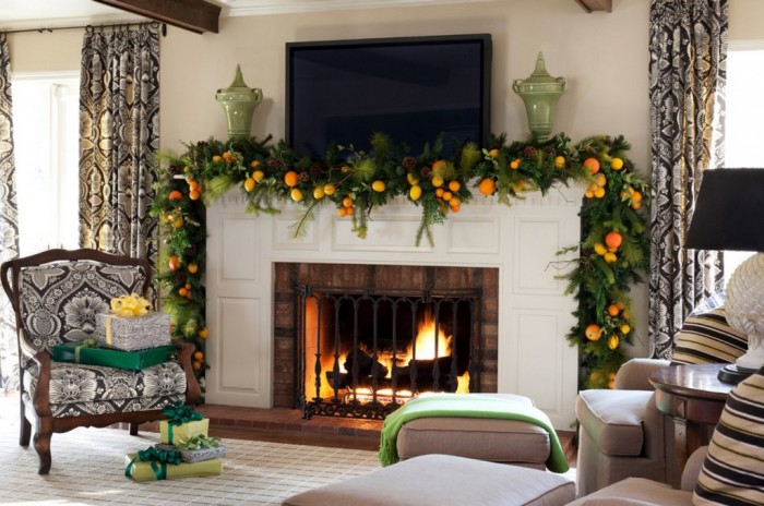 cool-design-ideas-fresh-natural-colorful-christmas-mantel-decoration-ideas-beautiful-christmas-home-decoration-ideas 65+ Dazzling Christmas Decorating Ideas for Your Home in 2019