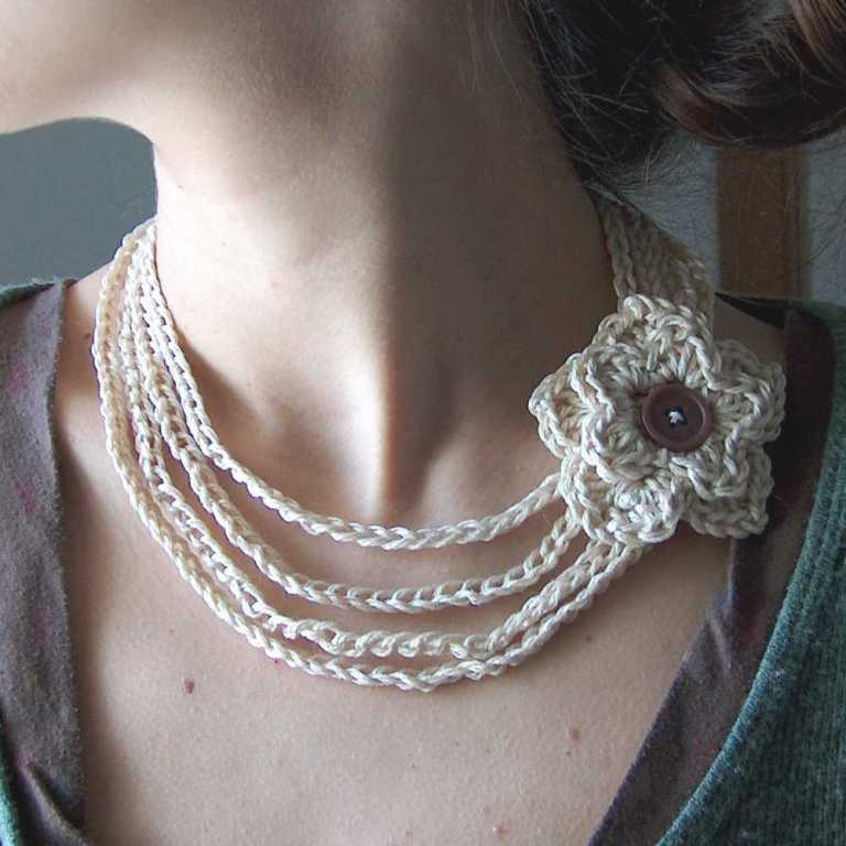 cotton-crochet-flower-necklace 10 Main Steps to Become a Fashion Journalist and Start Your Business