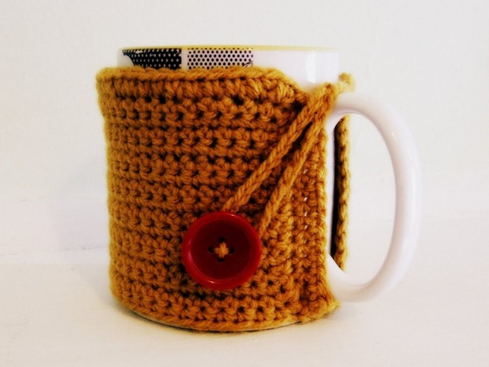 crochet-mug-cosy-angle Stunning Crochet Patterns To Decorate Your Home & Make Accessories