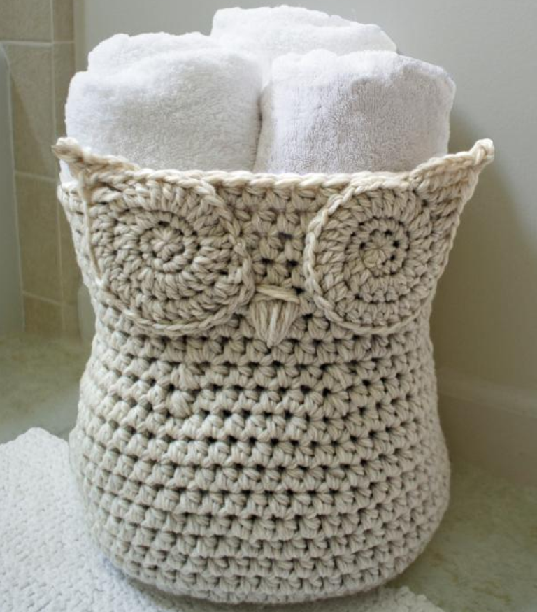 crochet-owl-basket-pattern Stunning Crochet Patterns To Decorate Your Home & Make Accessories