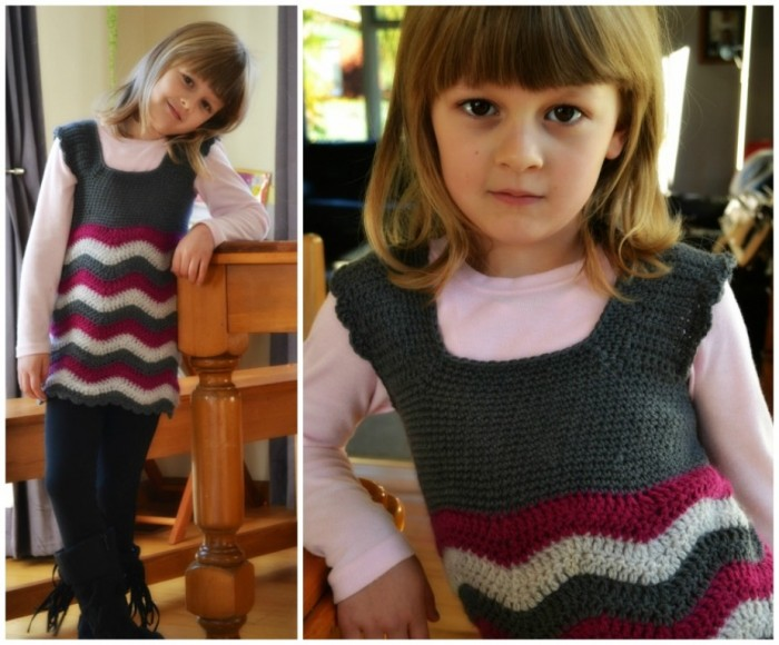 crochet-ripple-dress-21 10 Fascinating Ideas to Create Crochet Patterns on Your Own